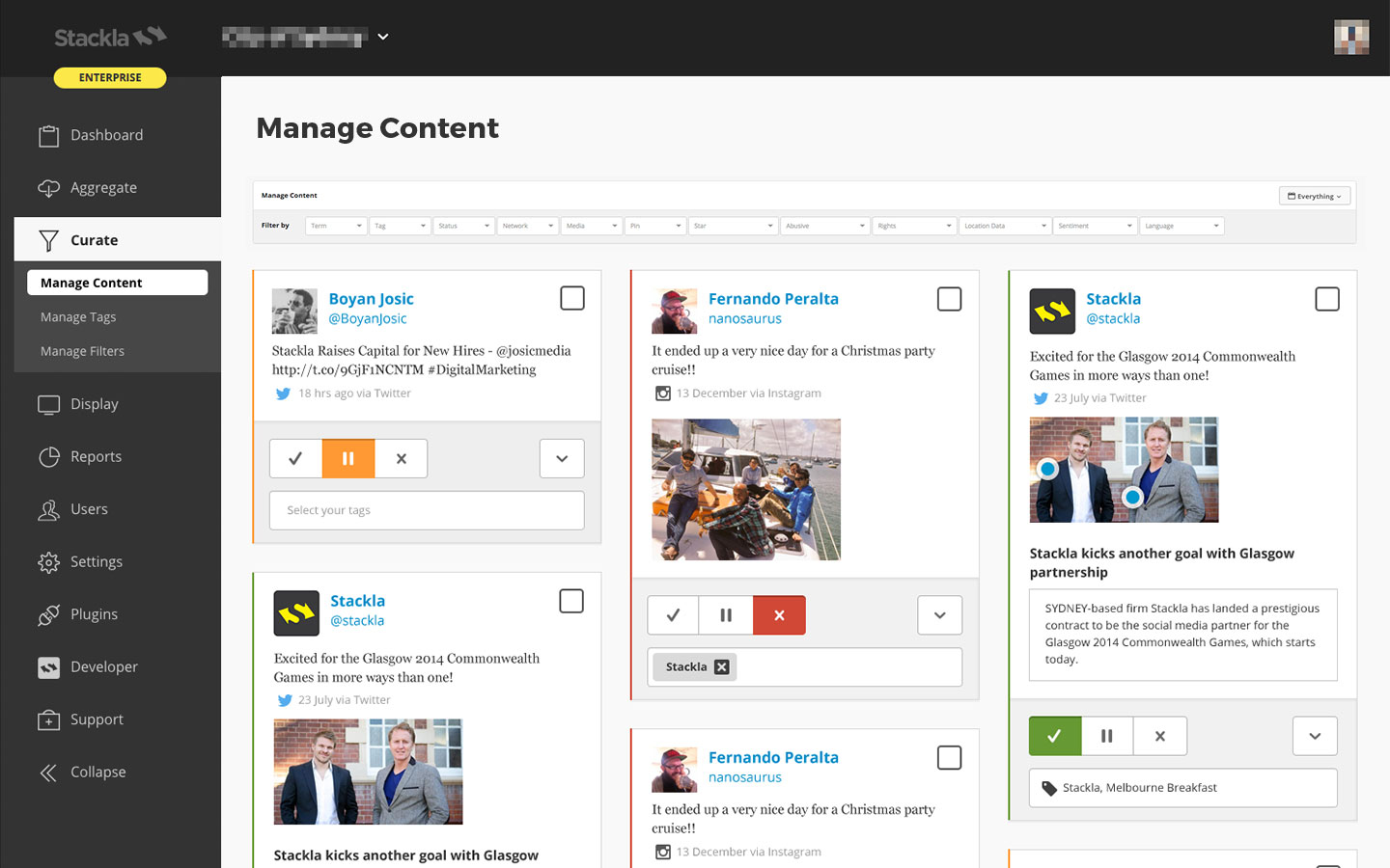 Stackla Demo - Aggregate, Curate and Manage User-Generated Content
