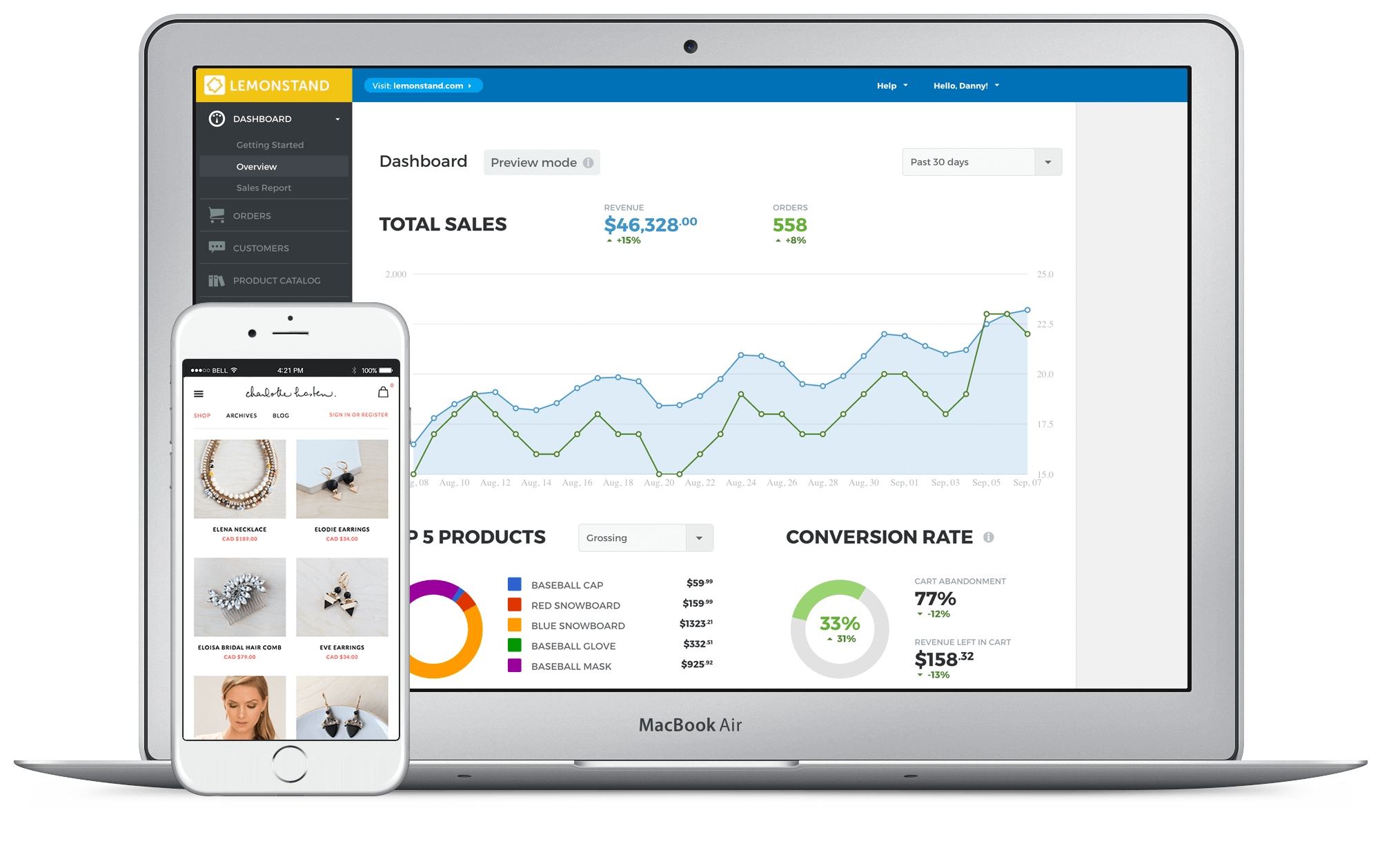 LemonStand Demo - LemonStand eCommerce Dashboard