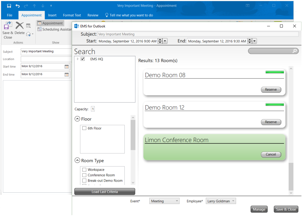 EMS Software Demo - EMS for Microsoft Outlook from EMS