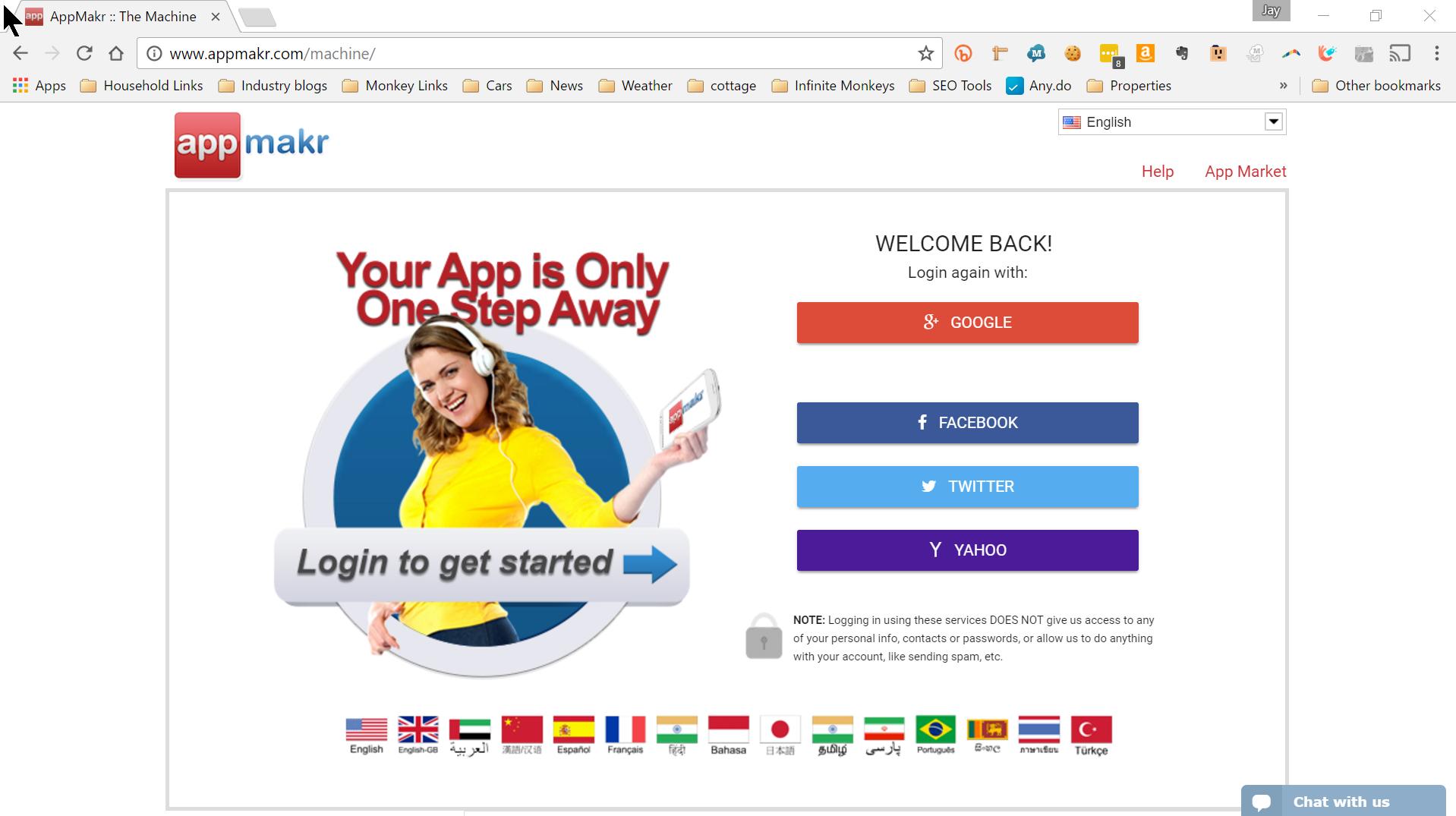 AppMakr Demo - Social Network Login