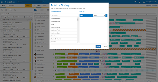 ClickSoftware Demo - Task Sorting