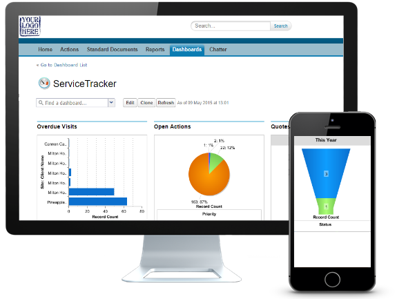 ServiceTracker Demo - Customer Portal