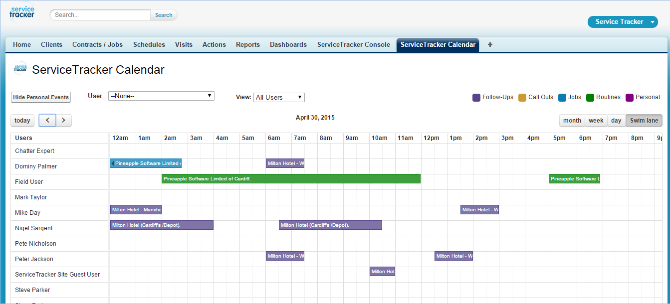 ServiceTracker Pest Control Software Demo - Calendar+Swim+Lane+View.png