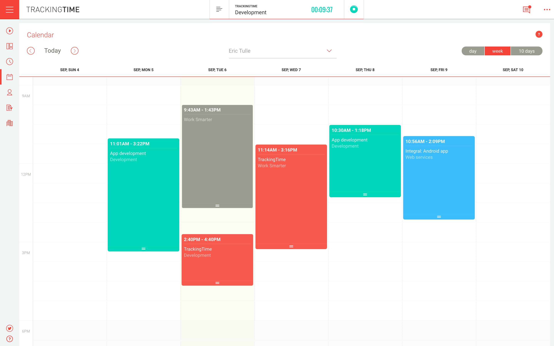 TrackingTime PRO Demo - Calendar
