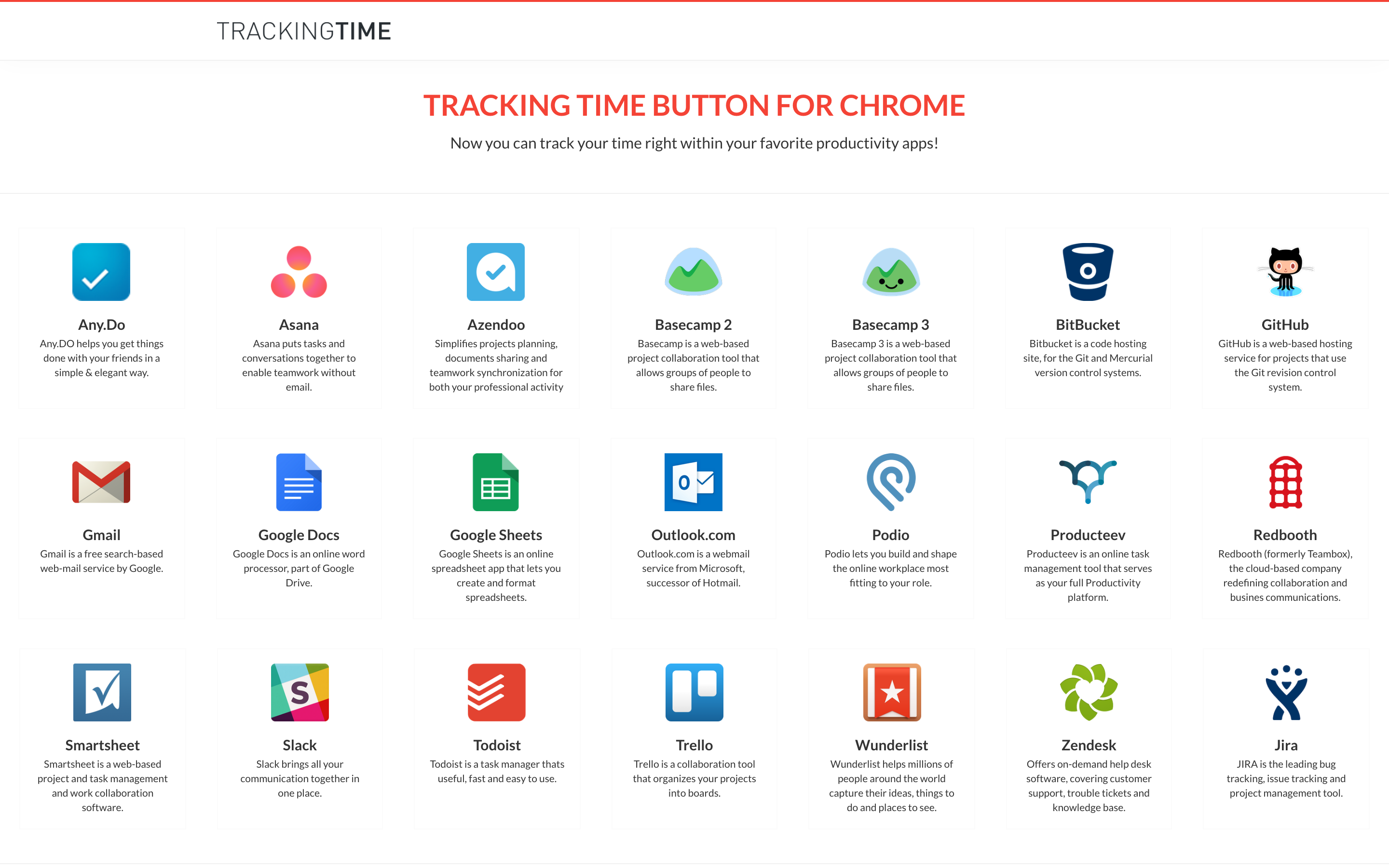 TrackingTime PRO Demo - TrackingTime Button