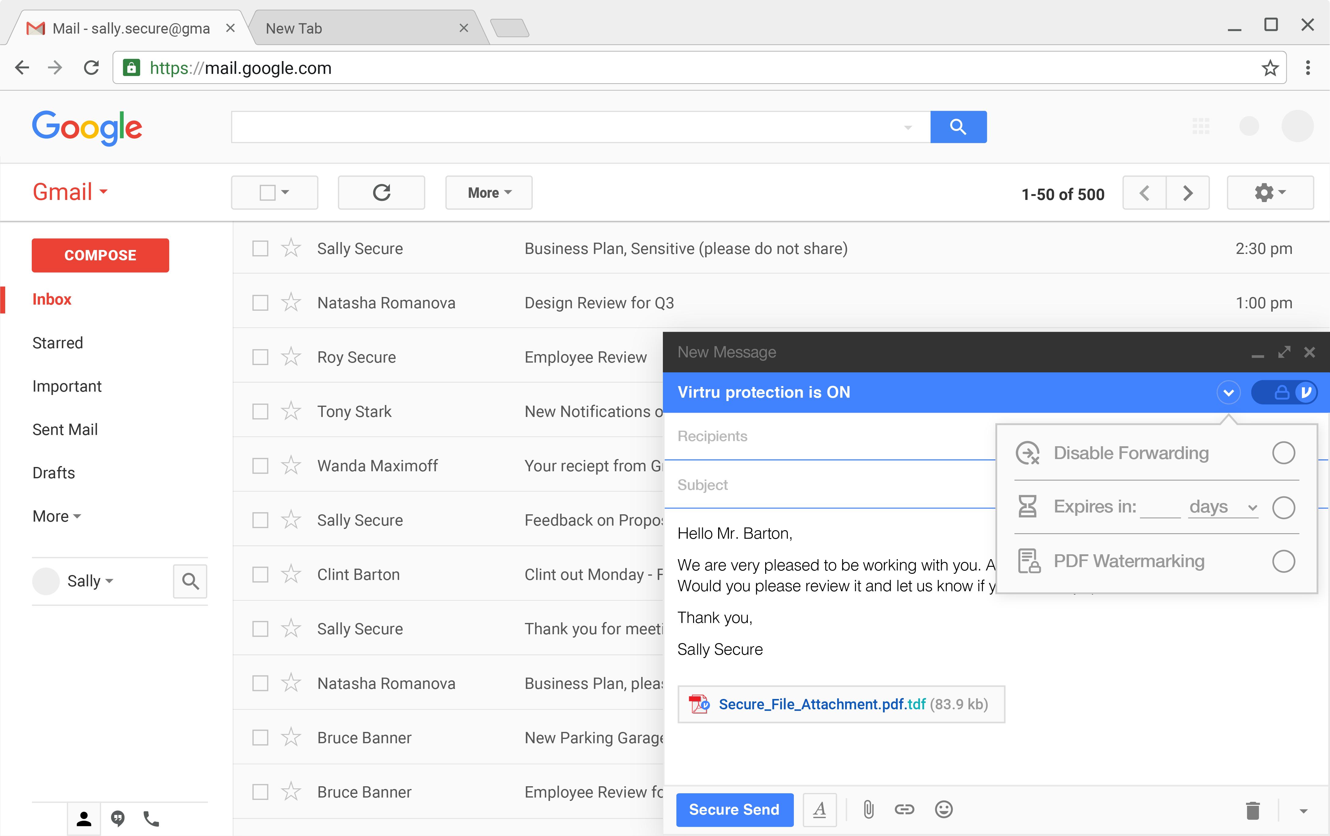Virtru Demo - Virtru Works Within Existing Email Systems