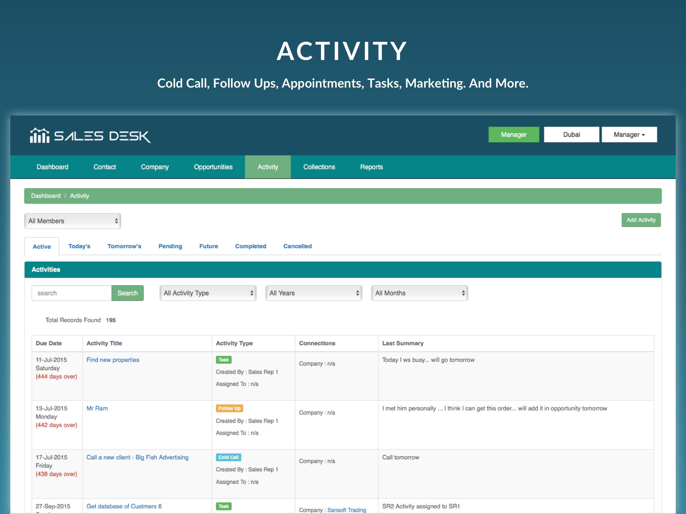 SalesDesk Demo - Activity