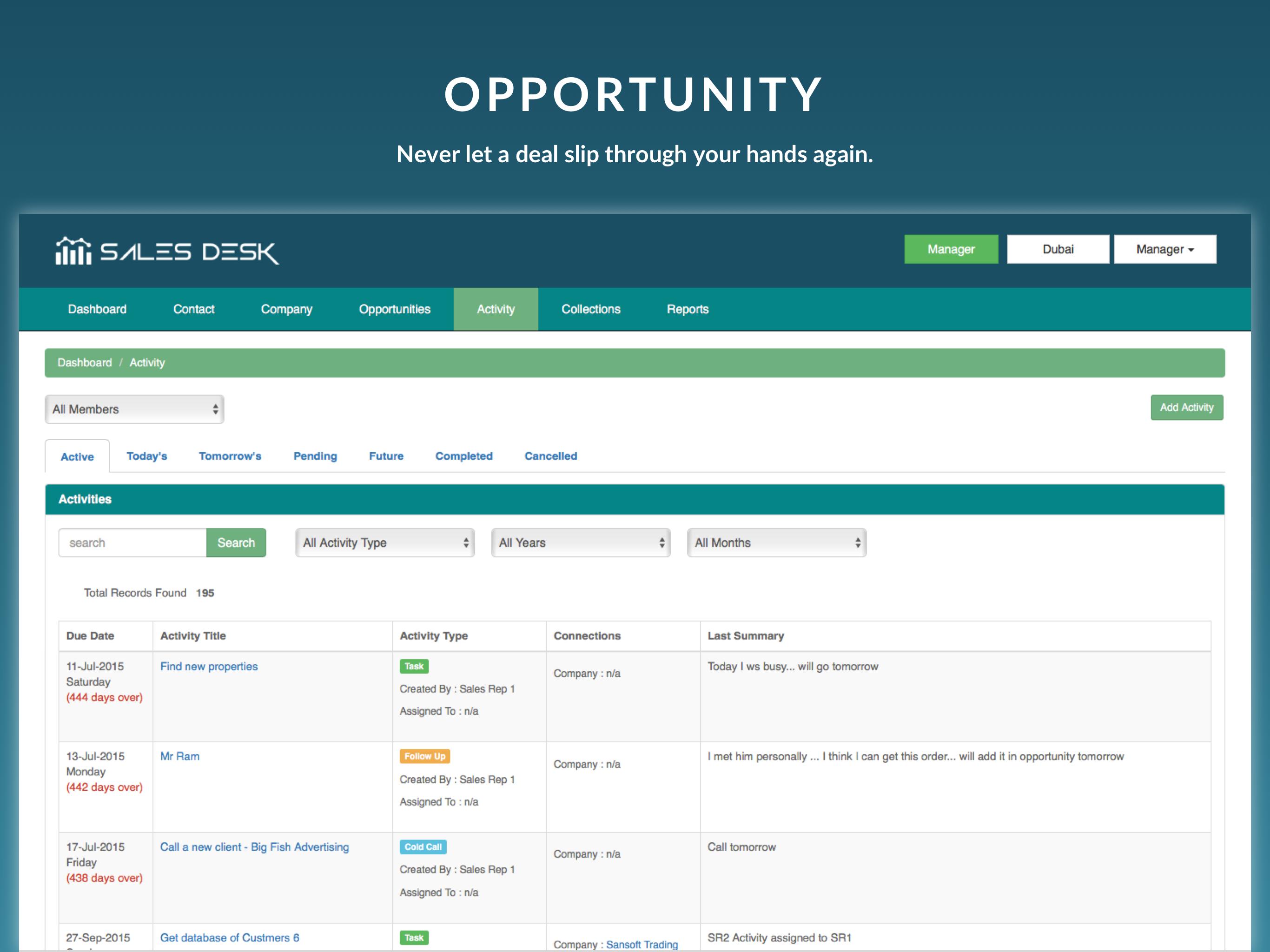 SalesDesk Demo - Opportunity