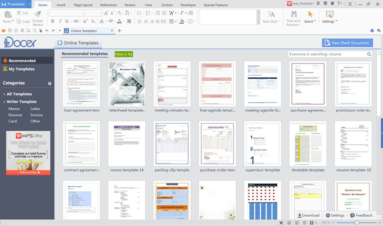 WPS Office Demo - Writer
