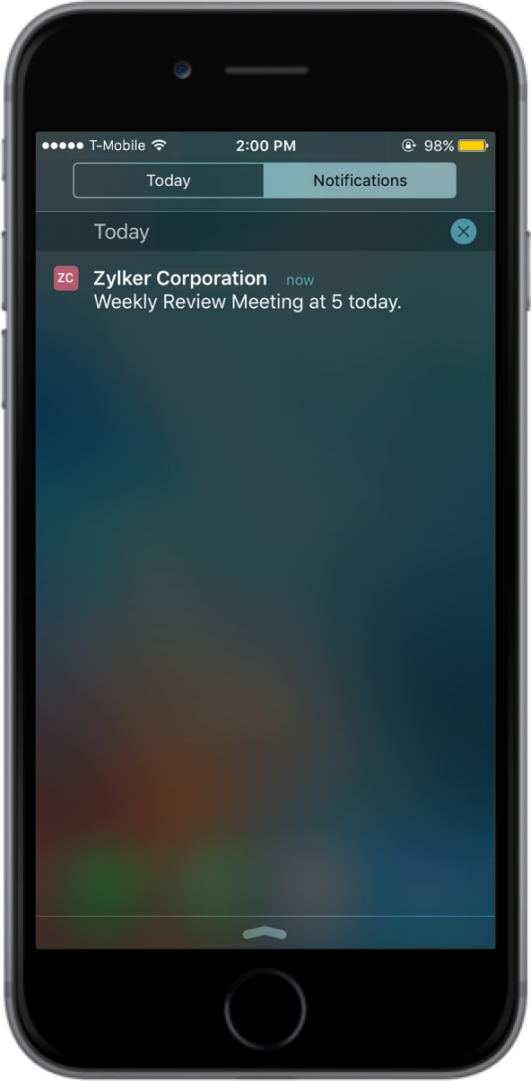 Zoho AppCreator Demo - App Notification