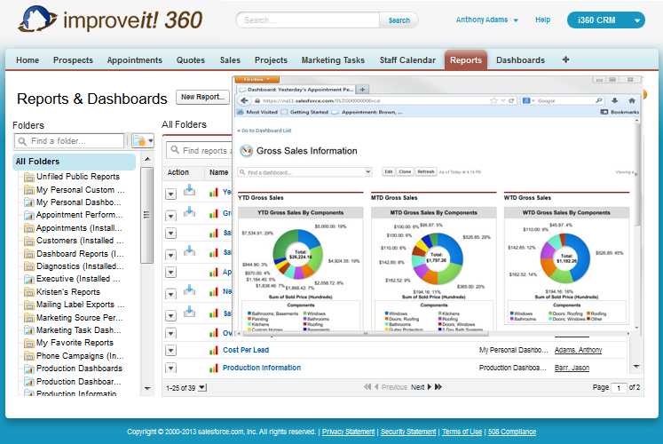 improveit 360 Demo - improveit 360 Reports and Dashboards