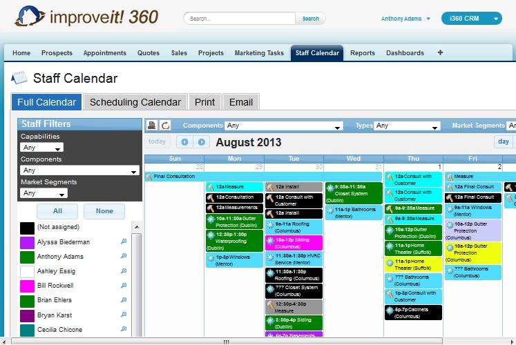 improveit 360 Demo - improveit 360 Staff Calendar