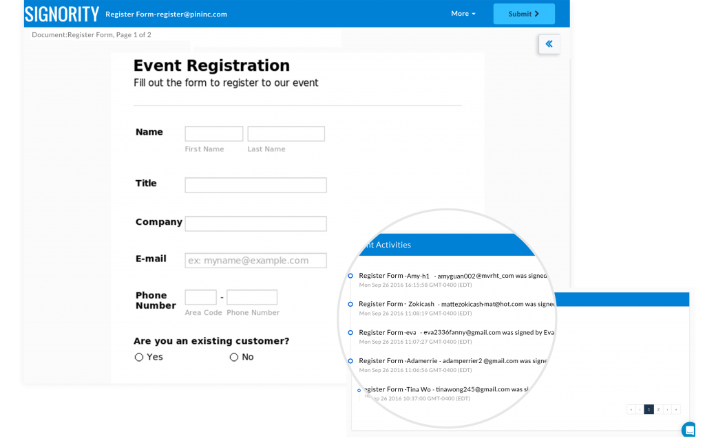 Signority Demo - Create A Seamless Registration Process For Your Customers