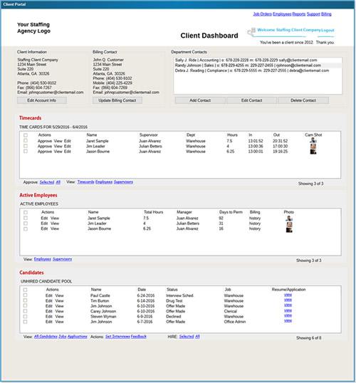 iStaff Staffing Software Demo - iStaff's Client Portal