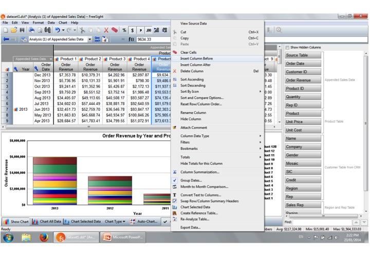 FreeSight Demo - Analysis Tables