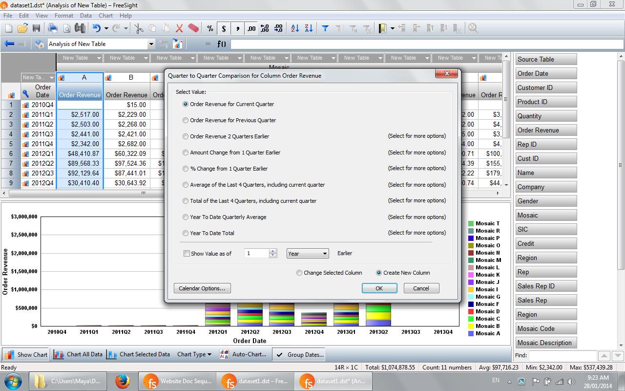 FreeSight Demo - Time Series Data