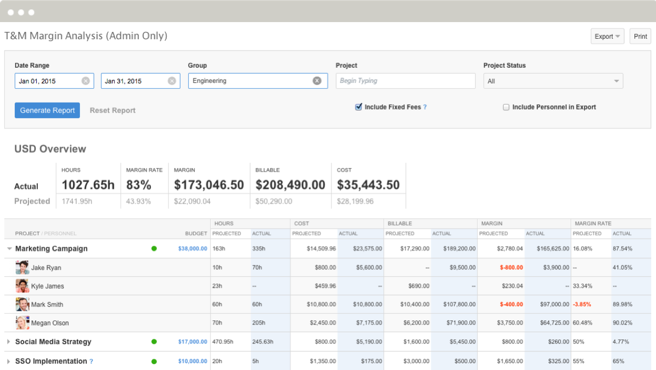 Mavenlink Demo - Time and Expense Tracking