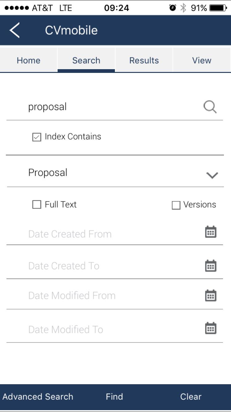 Contentverse Demo - CV-Mobile-iOS-Search