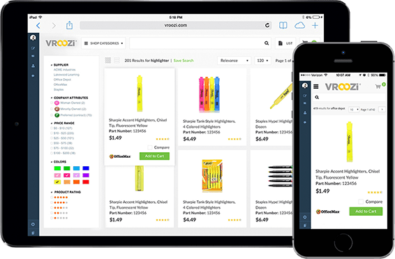 Vroozi Procurement Platform Demo - Accessible any device