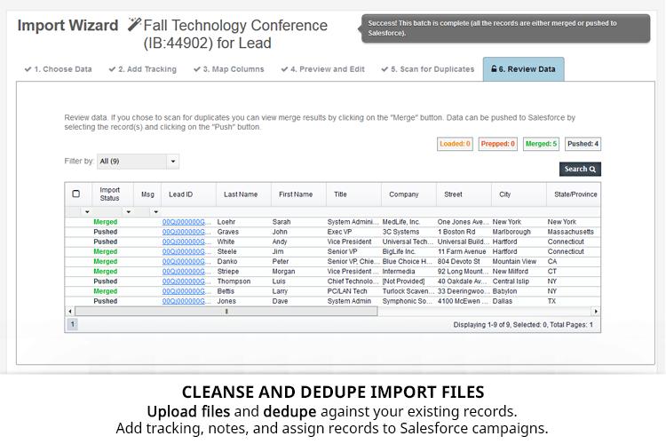 Cloudingo Demo - Cloudingo Import Wizard - Don't just upload data. Upload clean data.