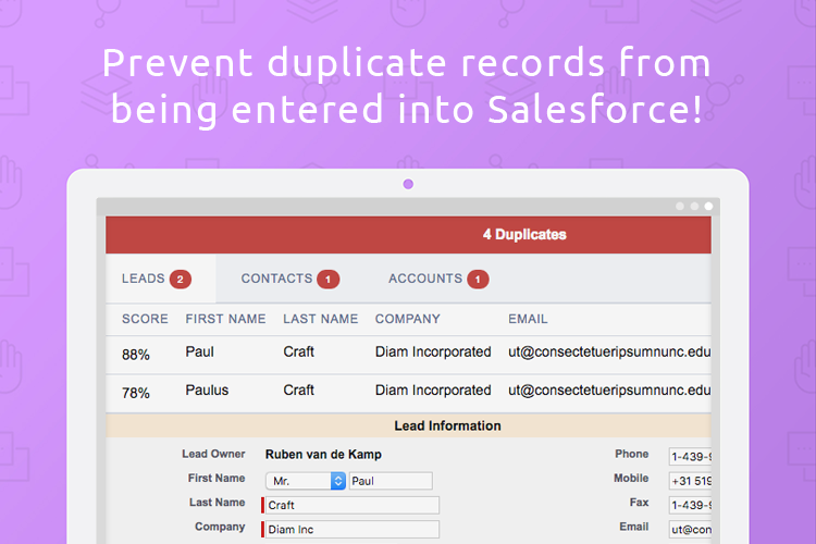 Duplicate Check for Salesforce Demo - Prevent duplicates