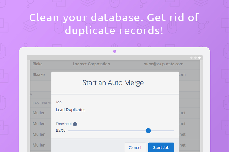 Duplicate Check for Salesforce Demo - Clean duplicate records