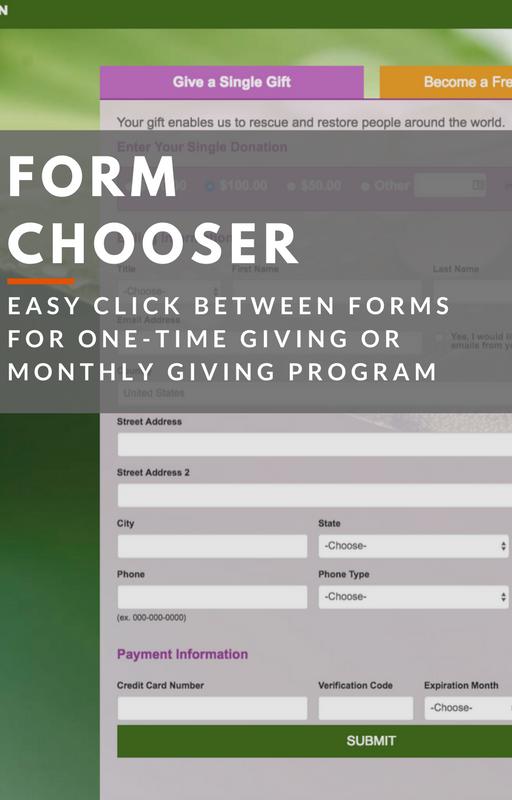Kimbia Demo - Form Chooser