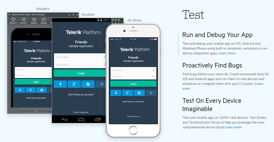 Telerik Platform Demo - Test Your Apps