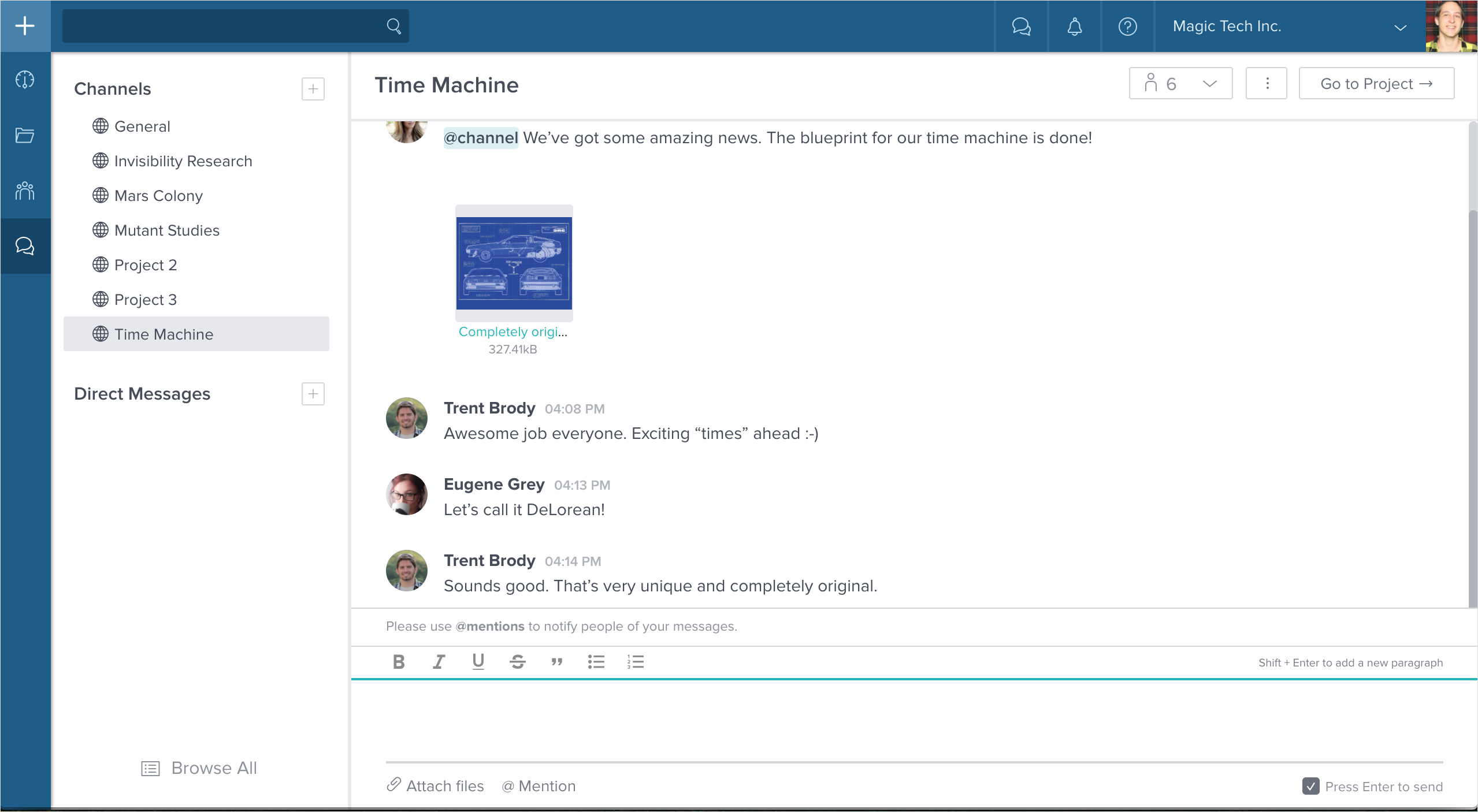 Taskworld Demo - Team Messaging