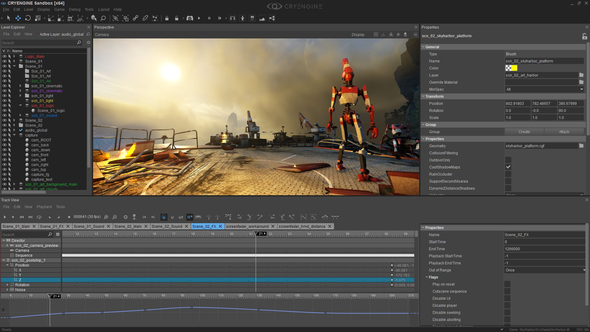CryEngine Demo - Trackview Cinematic Editor