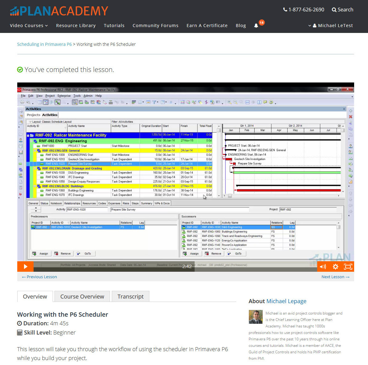 Plan Academy Demo - Watch Great Videos