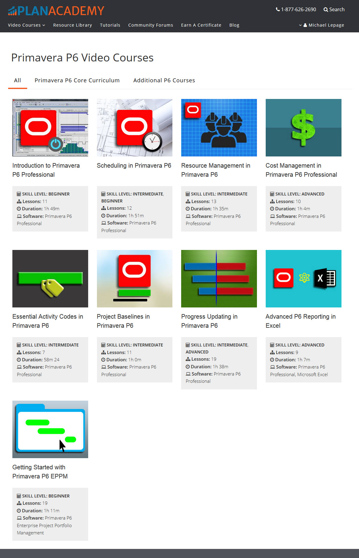 Plan Academy Demo - A Growing Library of Courses