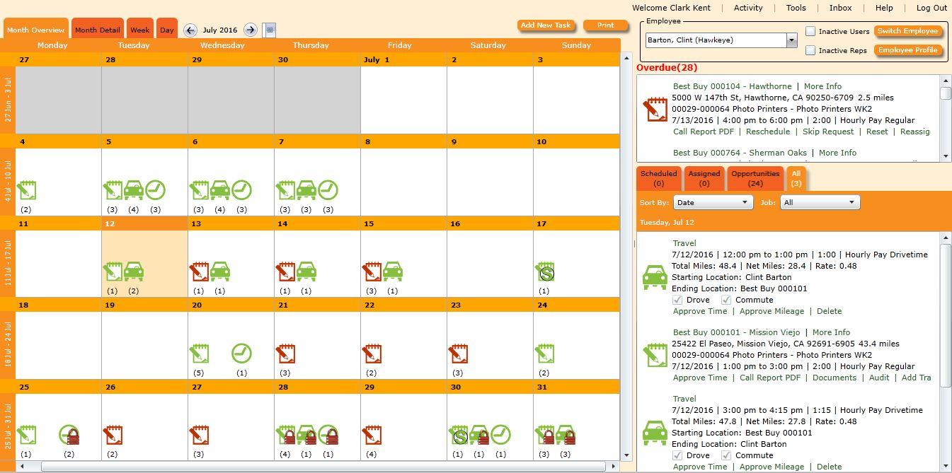Cognistix Demo - Desktop Calendar Interface