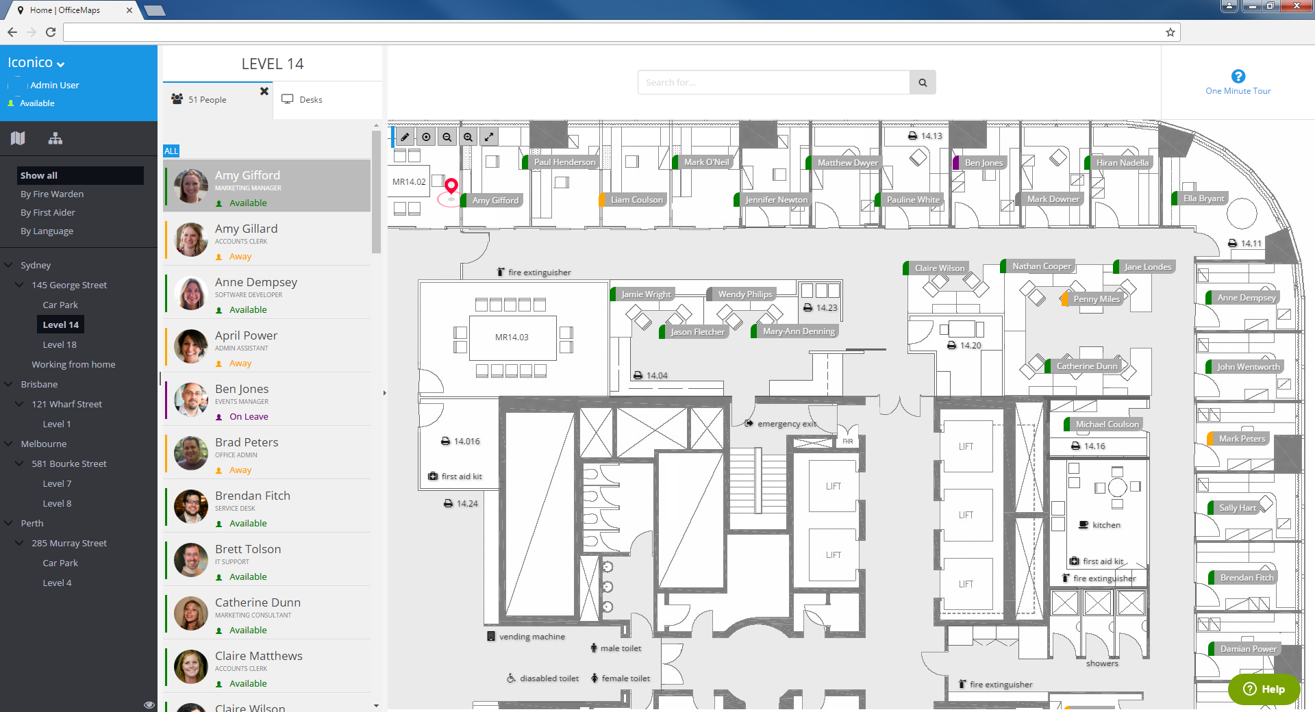 Officemaps g2 crowd for Interactive office floor plan