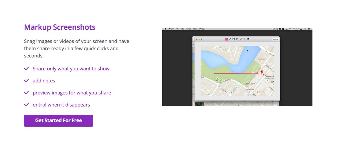 Droplr Demo - Markup Screenshots