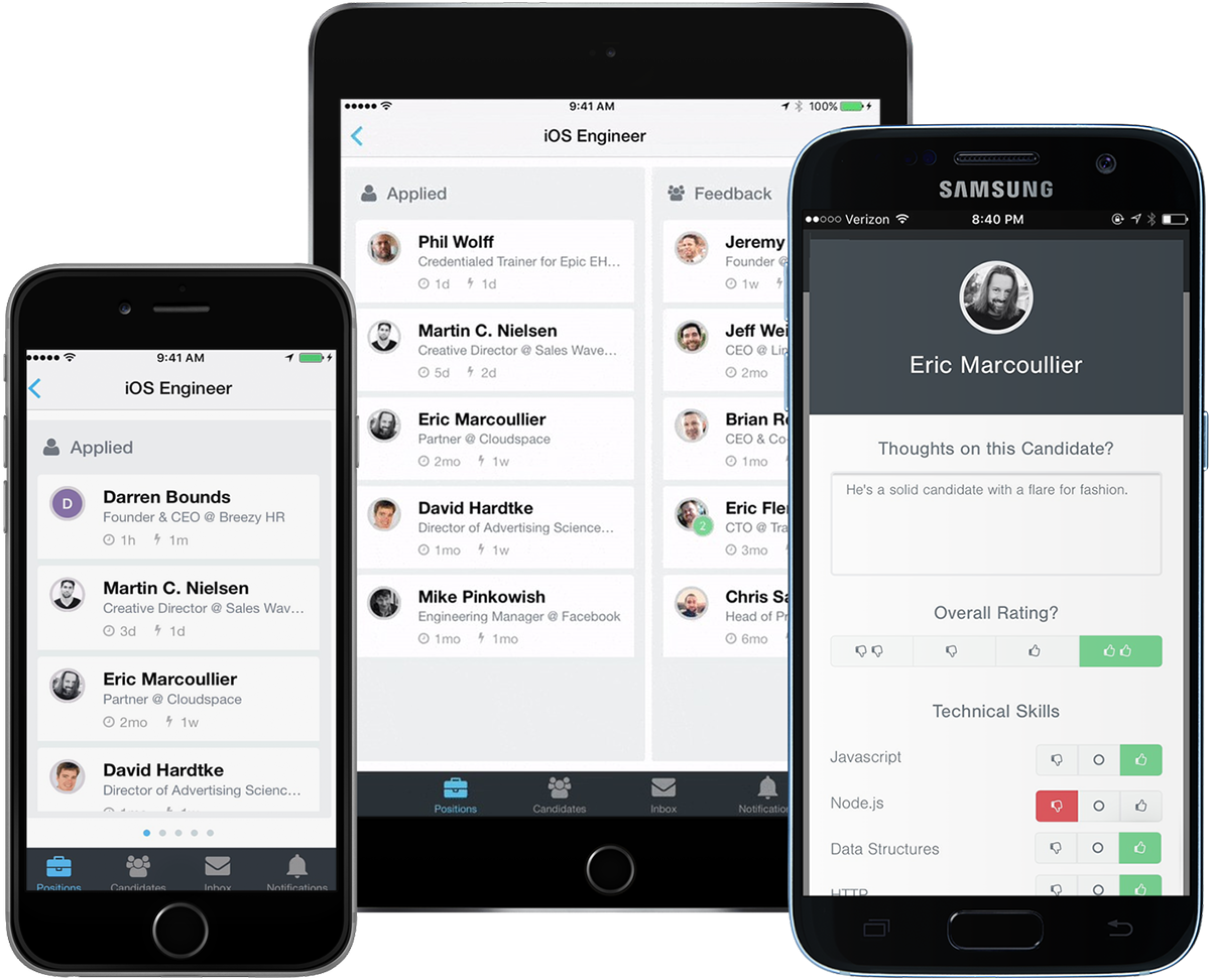 BreezyHR Demo - Native iPhone, iPad and Android Apps