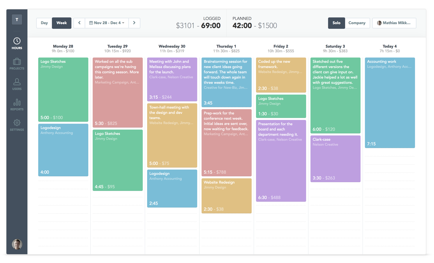 Timely Time Tracking Demo - The Web and macOS Interface