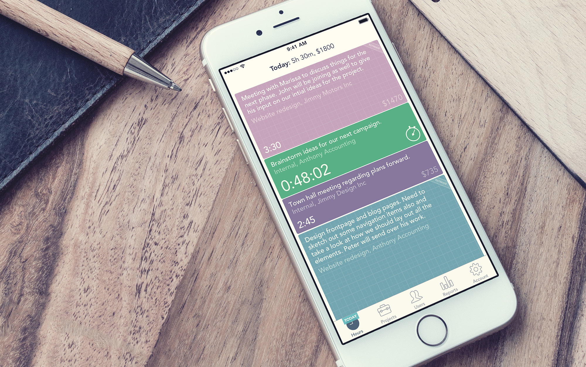Timely Time Tracking Demo - Timely on IOS