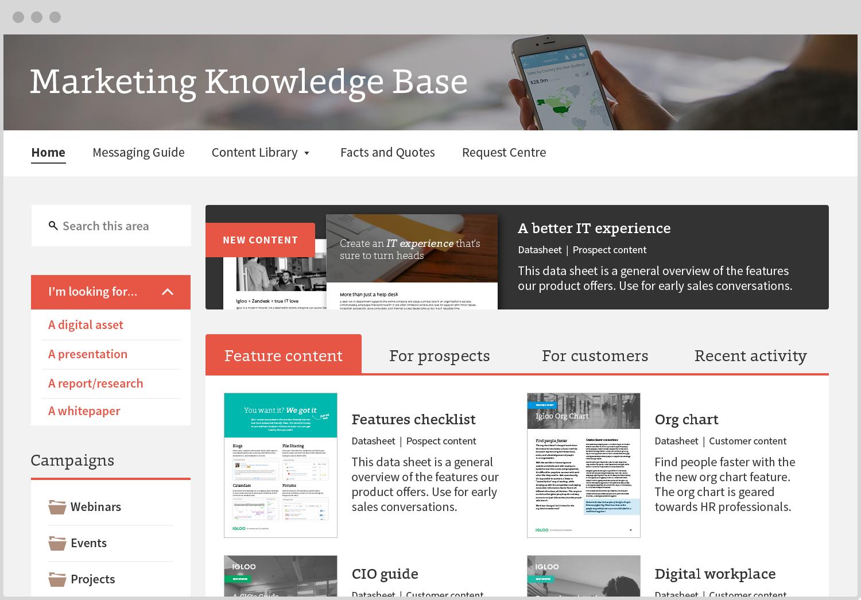 Igloo Demo - Igloo Software Marketing Knowledge Base