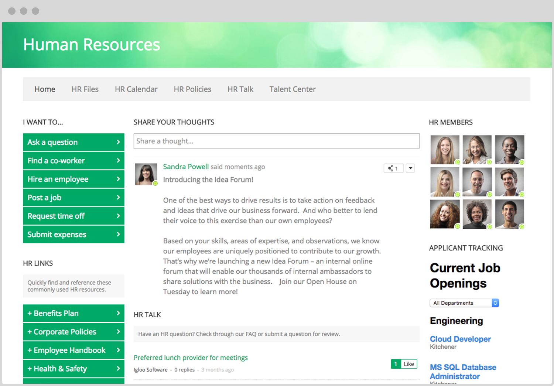 Igloo Demo - Igloo Software for Human Resources