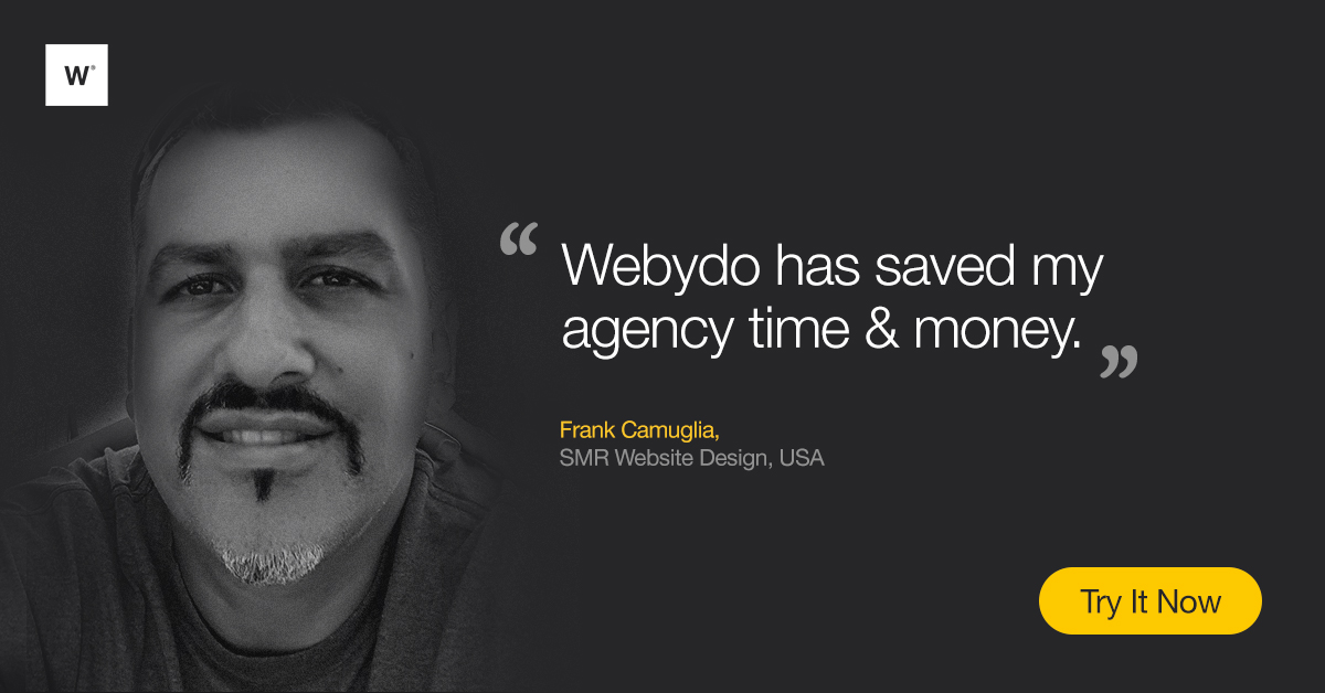 Webydo Demo - Save Time and Money by Creating Websites in Webydo