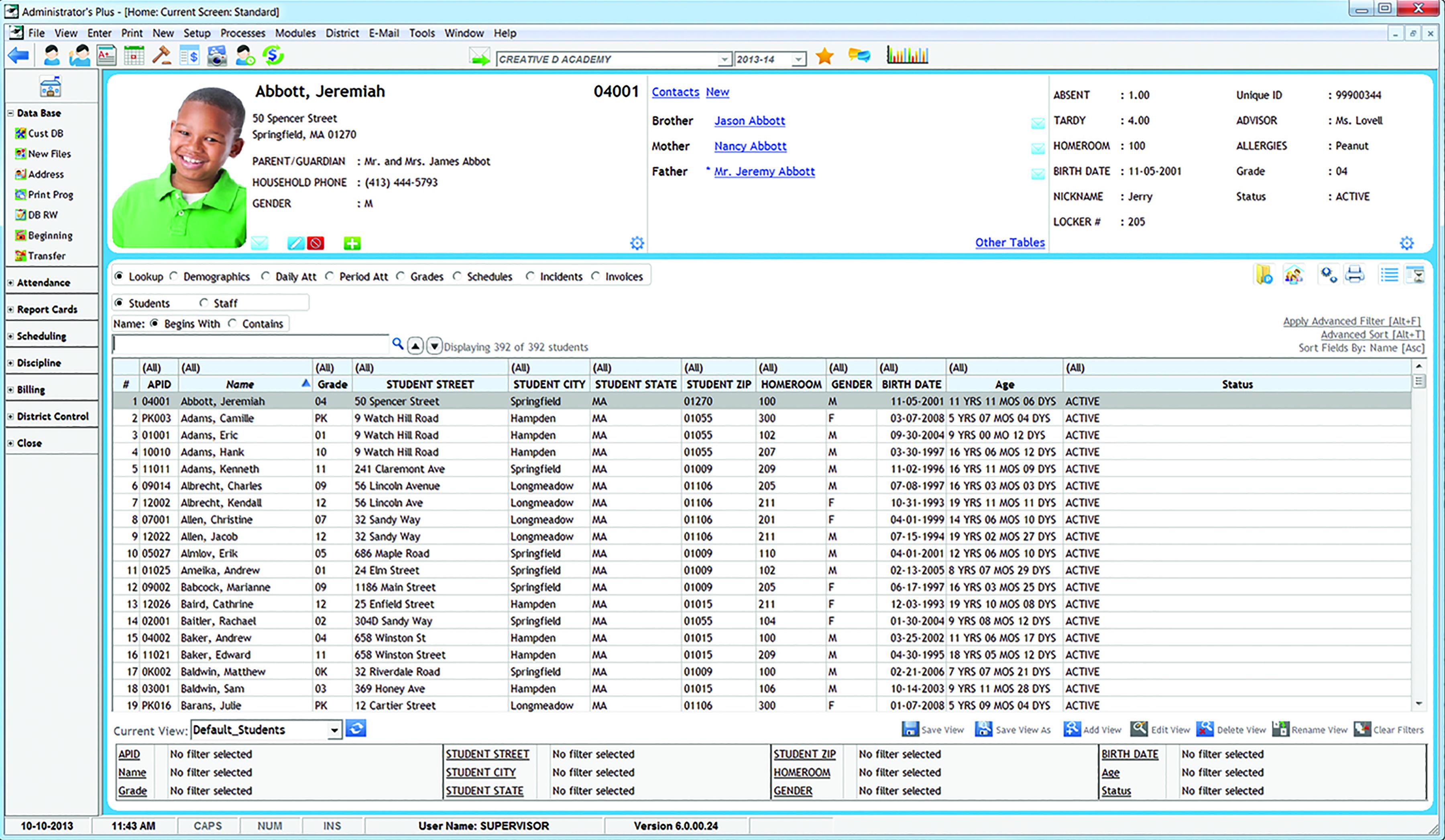 Administrator's Plus Demo - Administrator's Plus Student Information System