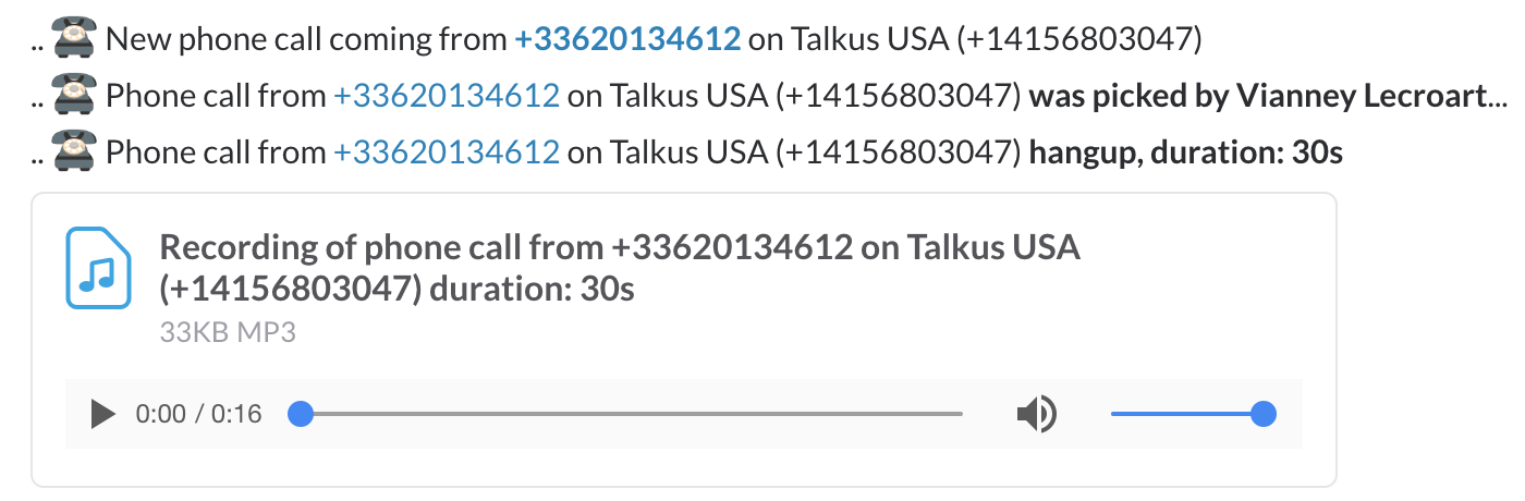 Talkus Demo - Talkus phone recoding