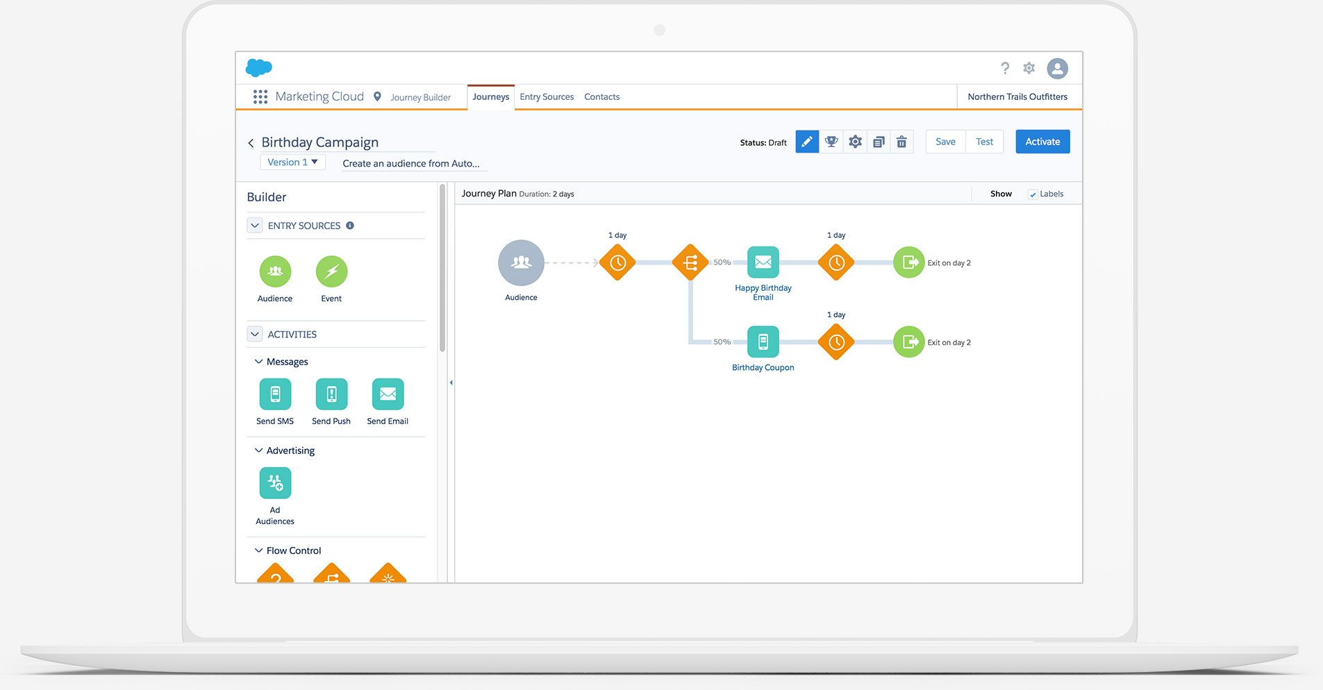 Salesforce Email Studio Demo - Manage The Customer Journey