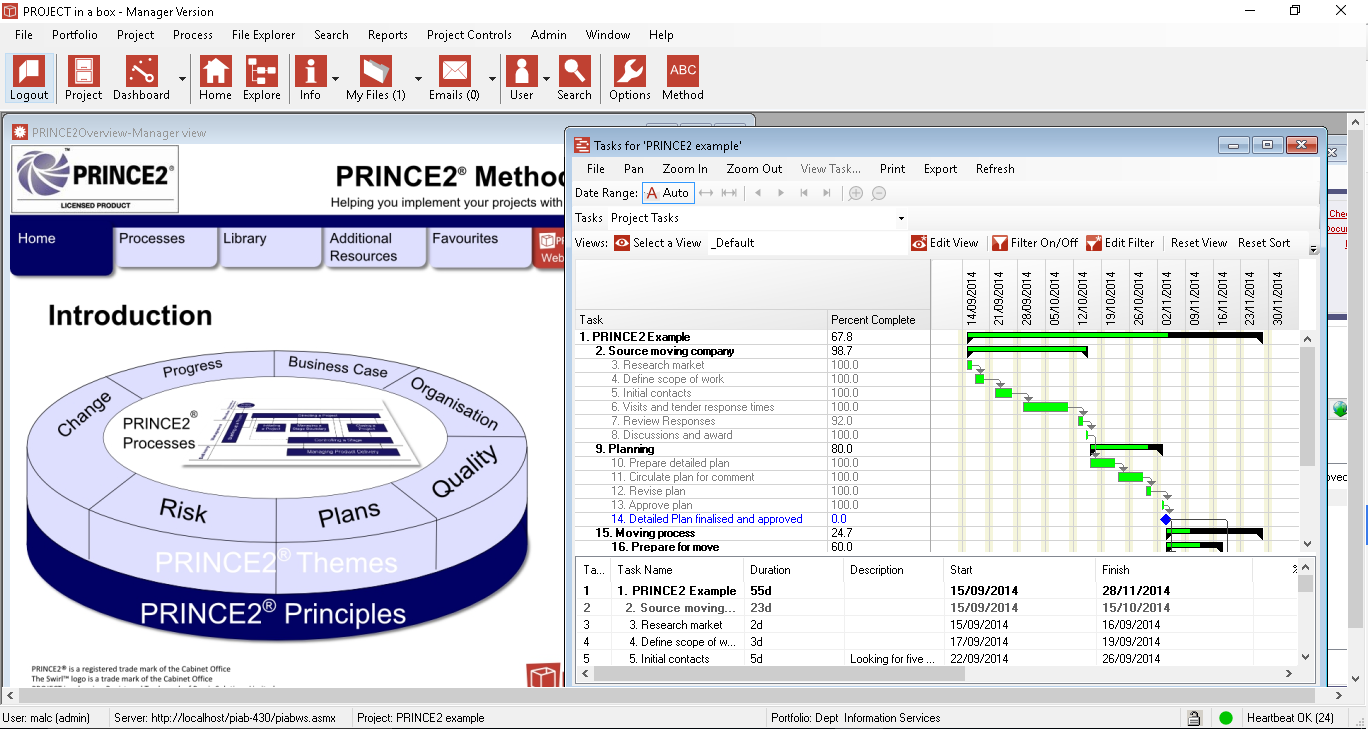 PROJECT in a box Demo - Managing a PRINCE2 project