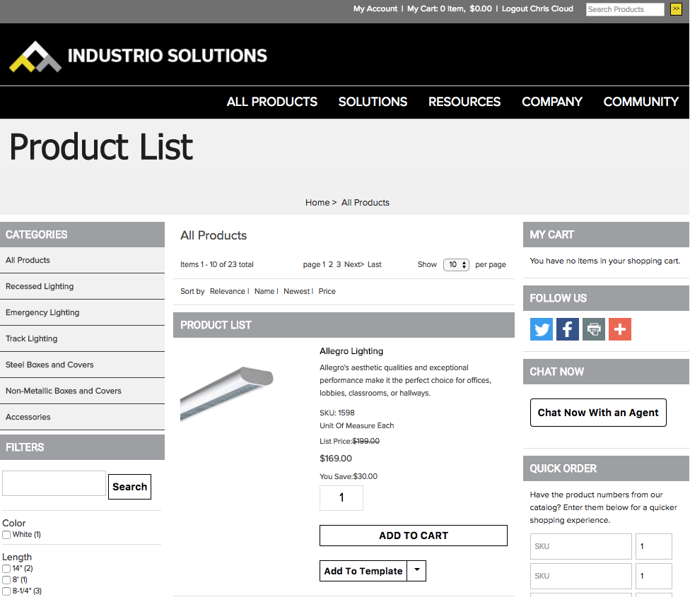 Salesforce B2B Commerce Demo - Industrio Solutions Products.png