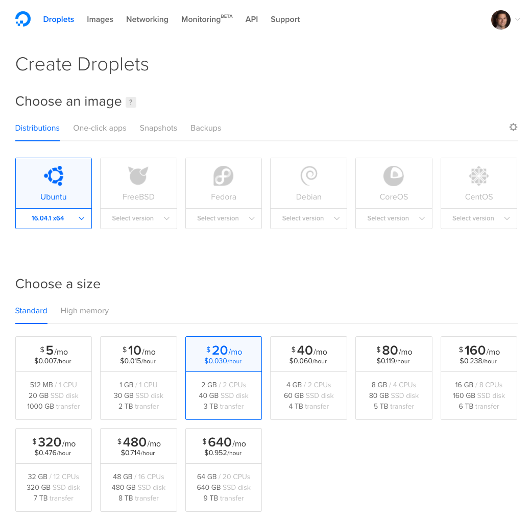 DigitalOcean Demo - Create a Droplet