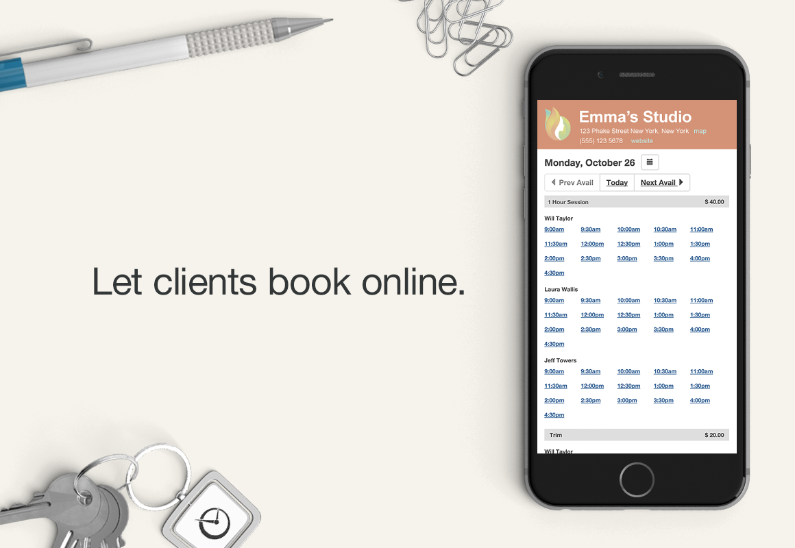 BookedIN Demo - Online booking for clients