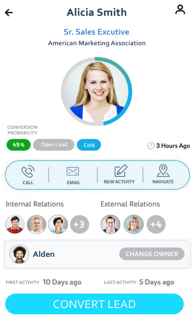 SalezShark Demo - Lead Profile | Mobile