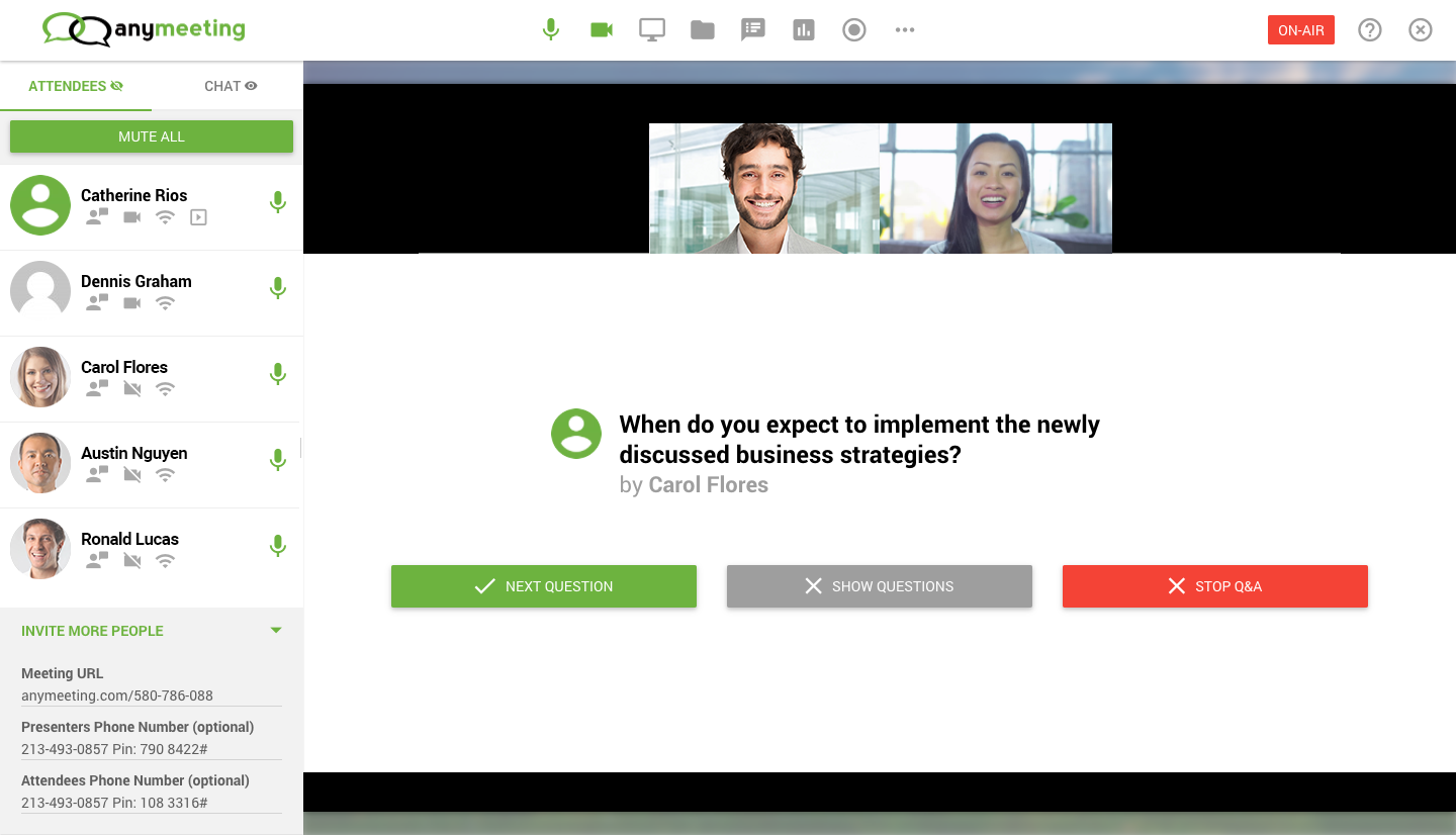 AnyMeeting Demo - Webinar Engagement Features